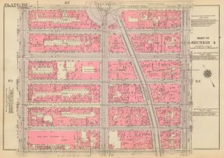 Section 4: Plate 82. Land Book of the Borough of Manhattan, City of New York. Bromley, GW...