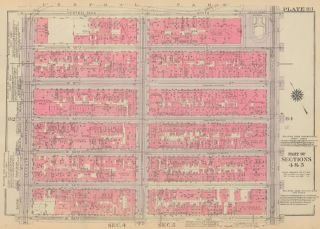 Section 4: Plate 83. Land Book of the Borough of Manhattan, City of New York. Bromley, GW...