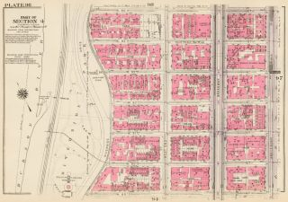 Section 4: Plate 96. Land Book of the Borough of Manhattan, City of New York. Bromley, GW...
