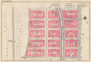 Section 7: Plate 100. Land Book of the Borough of Manhattan, City of New York. Bromley, GW...