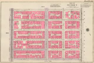 Section 7: Plate 101. Land Book of the Borough of Manhattan, City of New York. Bromley, GW...