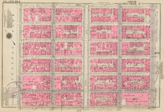 Section 5: Plate 104. Land Book of the Borough of Manhattan, City of New York. Bromley, GW...