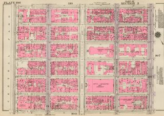 Section 5: Plate 106. Land Book of the Borough of Manhattan, City of New York. Bromley, GW...