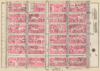 Section 5: Plate 110. Land Book of the Borough of Manhattan, City of New York. Bromley, GW...