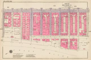 Section 5: Plate 116. Land Book of the Borough of Manhattan, City of New York. Bromley, GW...