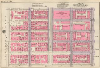 Section 5: Plate 120. Land Book of the Borough of Manhattan, City of New York. Bromley, GW...