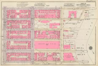 Section 5: Plate 121. Land Book of the Borough of Manhattan, City of New York. Bromley, GW...