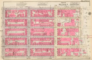 Section 6: Plate 125. Land Book of the Borough of Manhattan, City of New York. Bromley, GW...