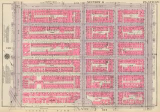 Section 6: Plate 129. Land Book of the Borough of Manhattan, City of New York. Bromley, GW...