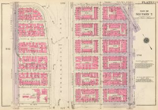 Section 7: Plate 133. Land Book of the Borough of Manhattan, City of New York. Bromley, GW...