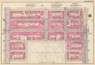 Section 6: Plate 141. Land Book of the Borough of Manhattan, City of New York. Bromley, GW...
