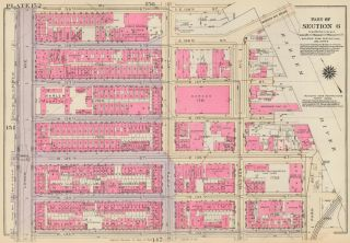 Section 6: Plate 152. Land Book of the Borough of Manhattan, City of New York. Bromley, GW...
