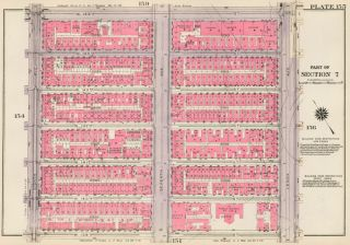 Section 7: Plate 155. Land Book of the Borough of Manhattan, City of New York. Bromley, GW...