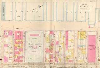 Section 4: Plate 40. Atlas of the City of New York. Bromley, GW Bromley, Co