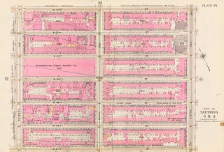Sections 4 & 5: Plate 36. Atlas of the City of New York. Bromley, GW Bromley, Co