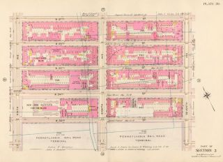 Section 3: Plate 20. Atlas of the City of New York. Bromley, GW Bromley, Co
