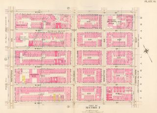 Section 7: Plate 16. Atlas of the City of New York. Bromley, GW Bromley, Co