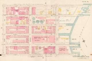 Sections 5 & 6: Plate 36. Atlas of the City of New York. Bromley, GW Bromley, Co