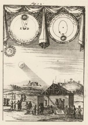 Solar Eclipses according to modern opinion. Description de l'Univers. Allain Manesson Mallet