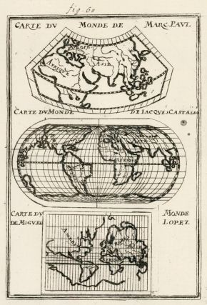 Changes in world map constuction since the discovery of the Americas. Description de l'Univers....