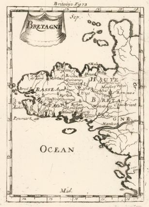 Map of Brittany, France. Description de l'Univers. Allain Manesson Mallet