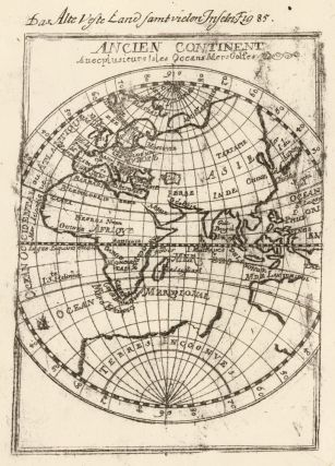 Ancient continent with several islands, oceans, and seas. Description de l'Univers. Allain...