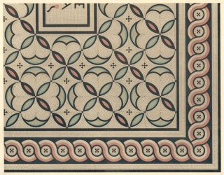Ancient Roman Tesselated Pavement. Specimens of Ornamental Art. Lewis Gruner