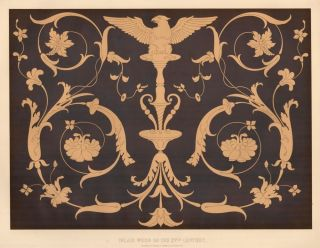 Inlaid Wood of the XVth Century. Specimens of Ornamental Art. Lewis Gruner