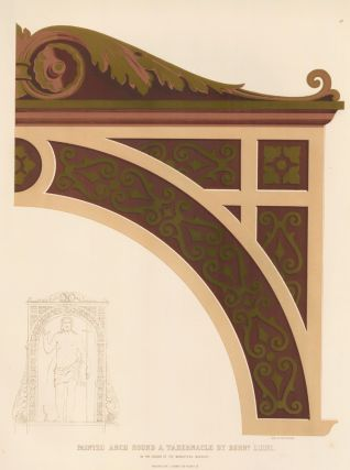 Painted Arch Round a Tabernacle. Specimens of Ornamental Art. Lewis Gruner
