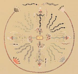Crooked Snakes showing power of repetition. Sandpaintings of the Navajo Shooting Chant. Franc J....