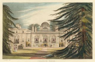 Chiswick House (Garden Front). Ackermann's Repository of Arts &c. Rudolph Ackermann