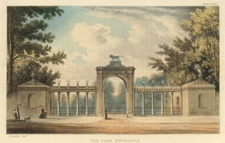 The Park Entrance, Sion House. Ackermann's Repository of Arts &c. Rudolph Ackermann
