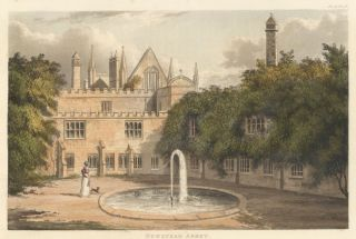 Newstead Abbey. Ackermann's Repository of Arts &c. Rudolph Ackermann