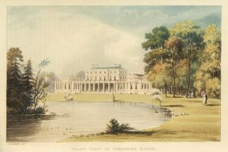 Front View of Frogmore House. Ackermann's Repository of Arts &c. Rudolph Ackermann