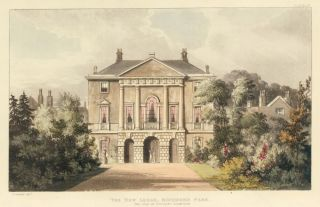 The New Lodge, Richmond Park. Ackermann's Repository of Arts &c. Rudolph Ackermann