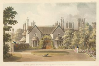 Entrance Front of His Majesty's Cottage. Ackermann's Repository of Arts &c. Rudolph Ackermann