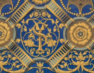 Part of a Carved Ceiling in the Palazzo Vecchio at Mantua. Specimens of Ornamental Art. Lewis Gruner