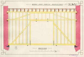 Queen Post Truss Partition. F. Reginald Watson