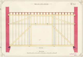 Queen Post Truss Partition. F. Reginald Watson.