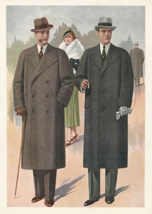 Men Smoking in Overcoats. Jean Darroux.