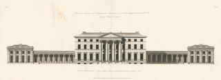 Principal Elevation of Attingham in Shropshire. The New Vitruvius Britannicus; Consisting of Plans and Elevations of Modern Buildings, Public and Private, Erected in Great Britain by the Most Celebrated Architects. George Richardson.