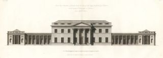 South East Elevation of Castle Coole, in Fermanagh County, Ireland. The New Vitruvius...