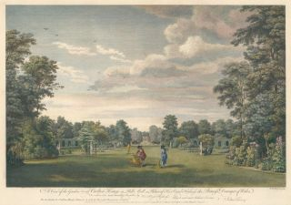 A View of the Garden at Carlton House [Wales]. English School