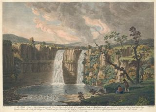 Cataract on the River Teese, which divides the Counties of York and Durham. James Mason, after...