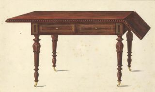 Writing desk. Cabinet-maker's catalog of Charles X furniture. French School