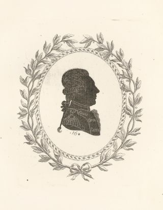 Mr. de la Fayette. Collection de Cent Silhouettes des Personnes Illustres et Célèbres. Johann Friedrich Anthing.