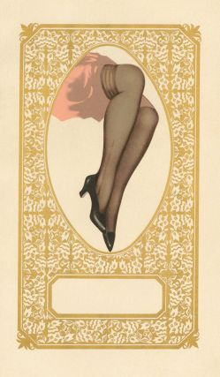 69. Stockings with gold border. Stockings Advertisement Illustration. German School