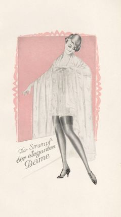 75. Der Strumpf der eleganten Dame. Stockings Advertisement Illustration. German School