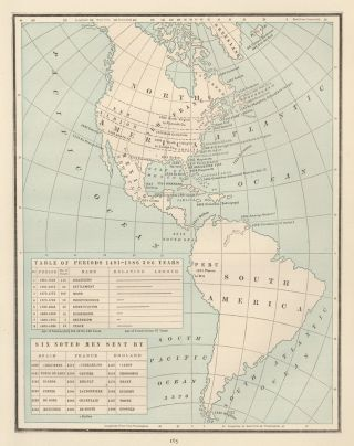 The Americas [1491-1886]. Cram's Unrivaled Atlas of the World. George Franklin Cram