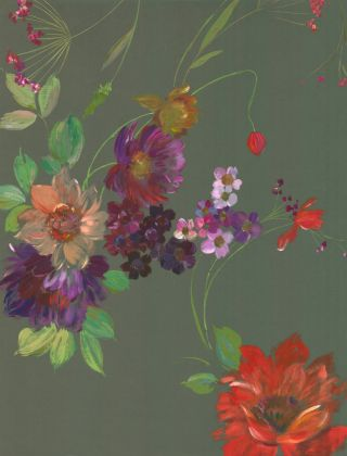 Wildflower bouquet with coral, fuschia, and violet tones. Jacques Laplace